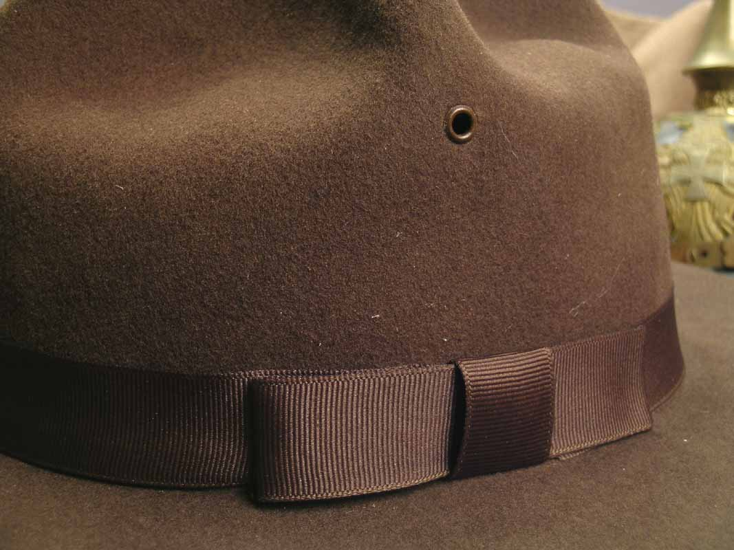 1911 Campaign Hat - vent and ribbon detail